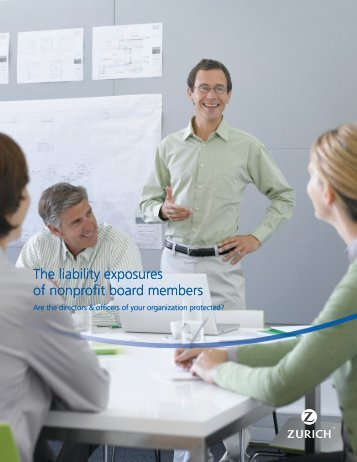 The liability exposures of nonprofit board members The ... - Zurich