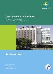 Vorwort der Klinikleitung - Ruhrlandklinik