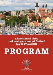 PRoGRam - Sveriges Hembygdsförbund