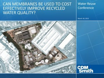 can membranes be used to cost effectively improve recycled water ...