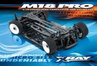 XRAY M18 PRO Instruction Manual