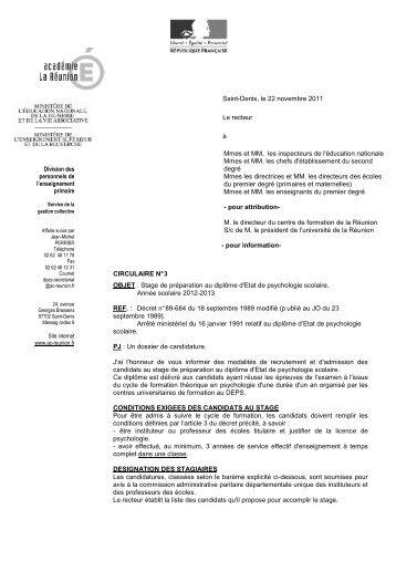 circulaire - Académie de la Réunion