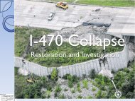 The I-470 Collapse - Restoration and Investigation.