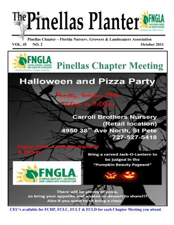 Pinellas Chapter Meeting Florida Nursery Growers And