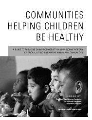 communities helping children be healthy - Active Living Network