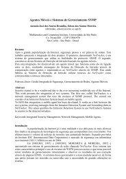 Agentes Móveis e Sistemas de Gerenciamento SNMP