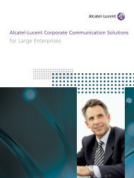 Alcatel-Lucent OmniPCX Enterprise 1000+ employees - CBX Tech