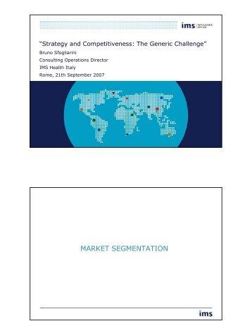 MARKET SEGMENTATION - Assogenerici