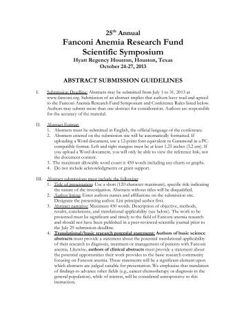 Fanconi Anemia Thesis