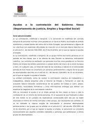 Ayudas a la contratación del Gobierno Vasco (Departamento de ...
