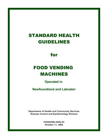 Health Guidelines for Vending Machines (PDF) - Government of ...