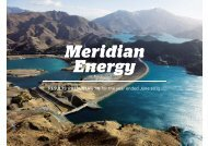 Annual results presentation - Meridian Energy