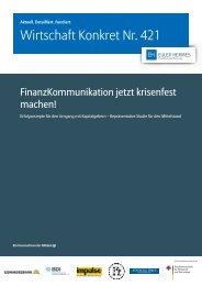 Wirtschaft Konkret Nr. 421 - Finanz-Kommunikation