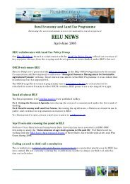 RELU NEWS - Rural Economy and Land Use Programme