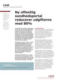 Ny offentlig sundhedsportal reducerer udgifterne med 80% - NNIT