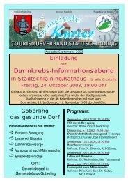 Darmkrebs-Informationsabend - Stadtschlaining