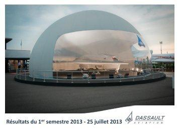 Planches de la conférence - Résultats du 1er ... - Dassault Aviation