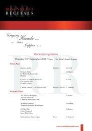 download PDF programme - Rosenblatt Recitals