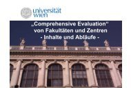 Comprehensive Evaluation - Forschungsnewsletter - Universität Wien