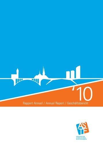 Rapport Annuel / Annual Report / Geschäftsbericht - paperJam