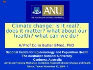 Overview of Climate Change and Health-part 1