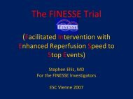 The FINESSE Trial (Facilitated Intervention with Enhanced ...