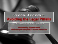 Personnel Assessment: Avoiding the Legal Pitfalls - IPAC