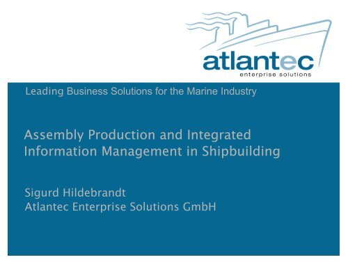 Assembly Production and Integrated Information Management in ...