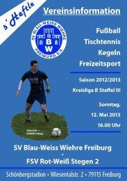FSV Rot-Weiß Stegen 2 - SV Blau-Weiss-Wiehre Freiburg eV