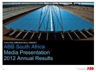 ABB South Africa Media Presentation 2012 ... - ABB - ABB Group