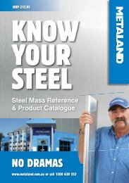Know your steel - no dramas - BJH
