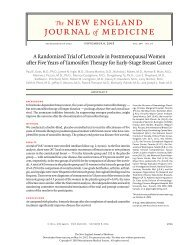 A Randomized Trial of Letrozole in Postmenopausal Women after ...
