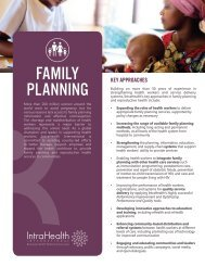 Family Planning and Reproductive Health Overview - IntraHealth ...