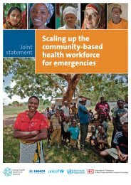 Scaling up the community-based health workforce for ... - Unicef
