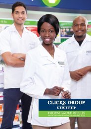 View Results Announcement - Clicks Group Limited