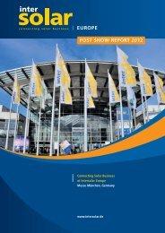 Post Show Report - Intersolar Global