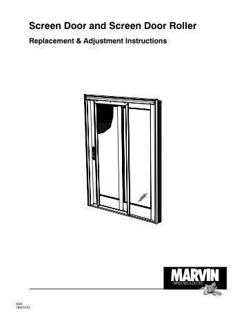 Screen Door and Screen Door Roller - Marvin Windows and Doors