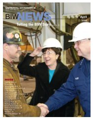 Telling the BIW Story (see pg. 3) - Bath Iron Works