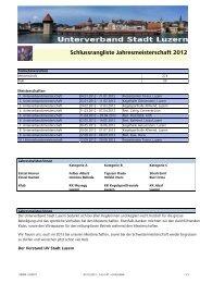 Schlussrangliste Jahresmeisterschaft 2012 - Unterverband Stadt ...