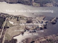 Maine Yankee Decommissioning 80% Complete