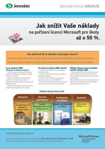 Smlouva EES pro školy. - Servodata