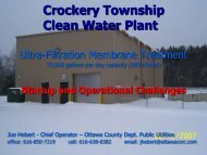 Crockery Township Clean Water Plant