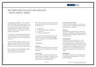 Betingelser for Collection Service - SEPA Direct ... - Danske Bank