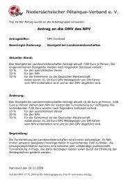 Arbeitsgruppe - Niedersächsischer Pétanque-Verband