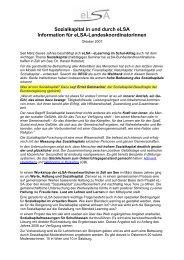 Sozialkapital in und durch eLSA Information für eLSA ...