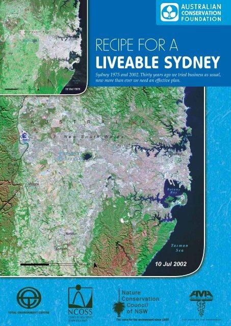recipe for a liveable sydney - Australian Conservation Foundation