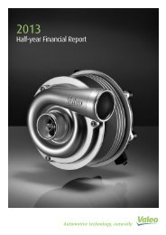Half-year report 2013 - Valeo