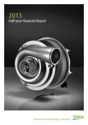 Half-year report 2013 - Valeo
