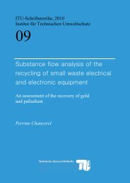 SUbstance flow analysis of the recycling of small waste electrical ...