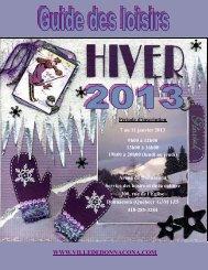 Guide des loisirs hiver 2013 - Ville de Donnacona